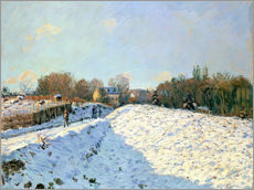 Adesivo murale  Snow at Argenteuil - Alfred Sisley