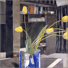 Stampa su plexi-alluminio  Yellow Tulips - Charles Rennie Mackintosh