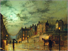 Adesivo murale  Hampstead Hill, overlooking Heath Street - John Atkinson Grimshaw