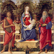 Adesivo murale  madonna with saints - Sandro Botticelli
