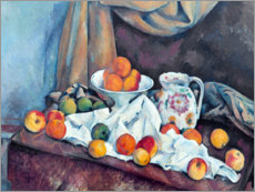 Stampa su alluminio  Nature morte - Paul Cézanne