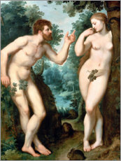 Poster Premium Adam and Eve under the Tree of Knowledge