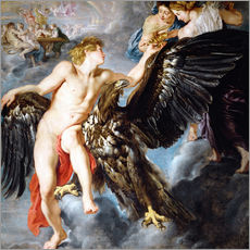 Stampa su plexi-alluminio  Abduction of Ganymede - Peter Paul Rubens