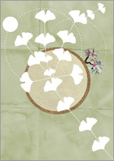 Stampa su plexi-alluminio  GINGKO TREE BY 5 CLOCK EARLY - Sabrina Tibourtine