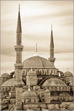 Adesivo murale  the blue mosque in sepia (Istanbul - Turkey) - gn fotografie