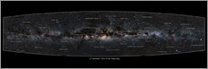 Adesivo murale  Milky Way, labeled (english) - Jan Hattenbach