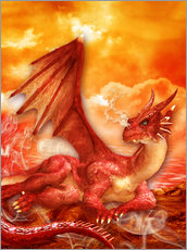 Adesivo murale  Red Power Dragon - Dolphins DreamDesign