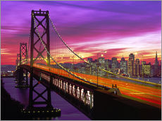 Stampa su plexi-alluminio  Bay Bridge a San Francisco - Paul Thompson