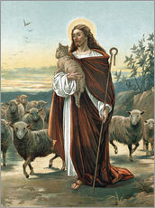 Stampa su plexi-alluminio  The good shepherd - John Lawson