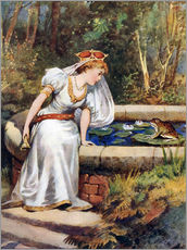 Stampa su plexi-alluminio  The Frog Prince - William Henry Margetson