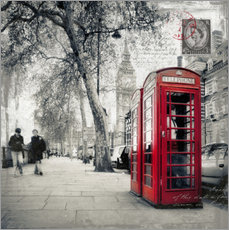 Stampa su plexi-alluminio  Postcard From London | 01 - Frank Wächter