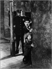 Adesivo murale  Tom Wilson, Charles Chaplin and Jackie Coogan in Il monello