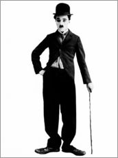 Adesivi murali  Charlie Chaplin with walking stick