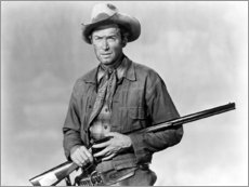 Stampa su plexi-alluminio  James Stewart as a cowboy