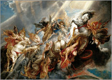 Stampa su plexi-alluminio  Fall of Phaeton - Peter Paul Rubens
