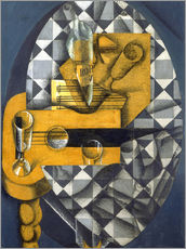 Adesivo murale  Guitar, Bottle, and Glass - Juan Gris