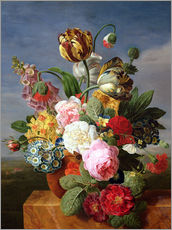 Adesivo murale  Bouquet of flowers in a vase - Jan Frans van Dael