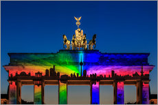 Adesivi murali  Berlin skyline at the Brandenburg Gate - Frank Herrmann