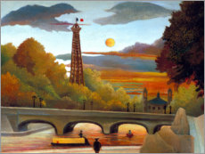 Adesivo murale  Seine and Eiffel Tower in the evening sun - Henri Rousseau