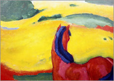 Adesivo murale  Horse in the countryside - Franz Marc