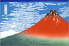 Stampa su plexi-alluminio  The Fuji in clear weather - Katsushika Hokusai