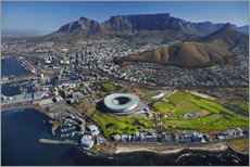 Stampa su plexi-alluminio  Cape Town Stadium e Table Mountain - David Wall