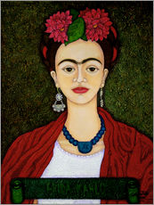 Madalena Lobao-Tello - Frida Kahlo portrait with dalias