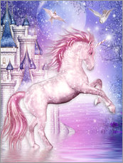 Adesivo murale  Pink Magic Unicorn - Dolphins DreamDesign
