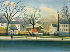 Adesivo murale  Suburb on the banks of the Marne - Henri Rousseau