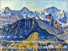 Stampa su plexi-alluminio  Eiger, Mönch and Jungfrau in the sun - Ferdinand Hodler