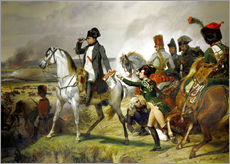 Stampa su plexi-alluminio  Napoleon Bonaparte, Battle of Wagram 06 July 1809th - Emile Jean Horace Vernet