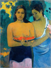 Poster Premium  Due donne di Tahiti - Paul Gauguin