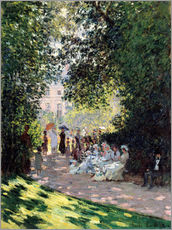 Adesivo murale  In the Park Monceau - Claude Monet