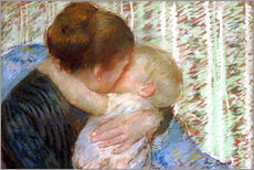 Adesivi murali  The Goodnight Kiss - Mary Stevenson Cassatt