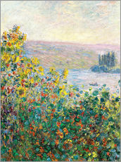 Stampa su plexi-alluminio  Flower Beds at Vetheuil - Claude Monet