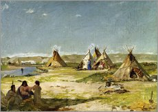 Adesivo murale  Camp of the Indians in Wyoming - Frank Buchser