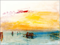 Adesivo murale  Venice, seen by Fusina - Joseph Mallord William Turner