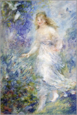 Stampa su tela  Spring (The Four Seasons) - Pierre-Auguste Renoir