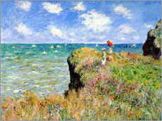 Adesivi murali  Clifftop Walk at Pourville - Claude Monet