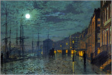 Adesivi murali  Docks at moonlight - John Atkinson Grimshaw