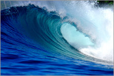 Adesivi murali  Big blue tropical island surfing wave - Paul Kennedy
