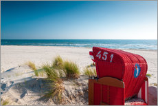 Adesivo murale  Red beach chair with a view - Reiner Würz