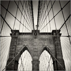 Adesivi murali  New York City - Brooklyn Bridge (Analogue Photography) - Alexander Voss