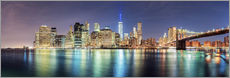Stampa su plexi-alluminio  New York City Skyline, panoramic view - Sascha Kilmer