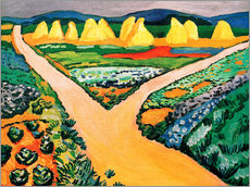 Adesivo murale  Vegetable Fields - August Macke