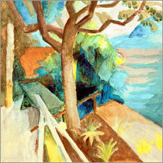 Adesivo murale  After Sunset by the Lake - August Macke