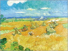 Poster Premium  Wheat Field with Reaper - Vincent van Gogh