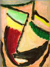 Stampa su plexi-alluminio  Small abstract head - Alexej von Jawlensky