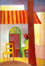 Stampa su plexi-alluminio  Turkish Cafe I - August Macke