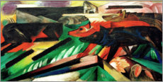 Stampa su legno  The Wolves (Balkan War) - Franz Marc